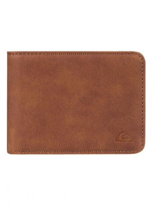 QUIKSILVER MENS WALLET.NEW SLIM VINTAGE FAUX LEATHER TAN BROWN PURSE 8S 649 CPYO